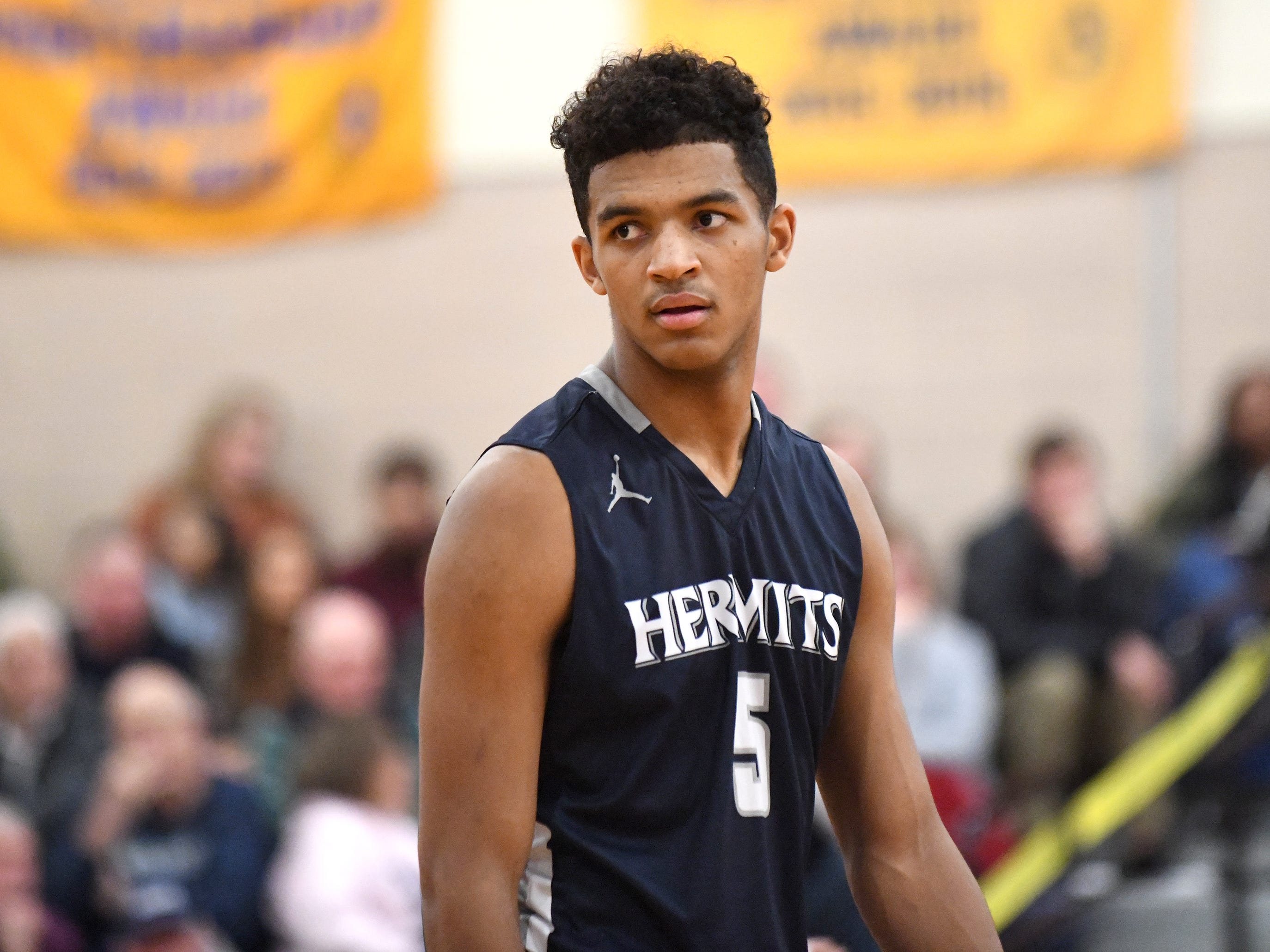 St. Augustine's Charles Solomon helped the Hermits top Millville 66-53 on Friday, Jan. 18, 2019.