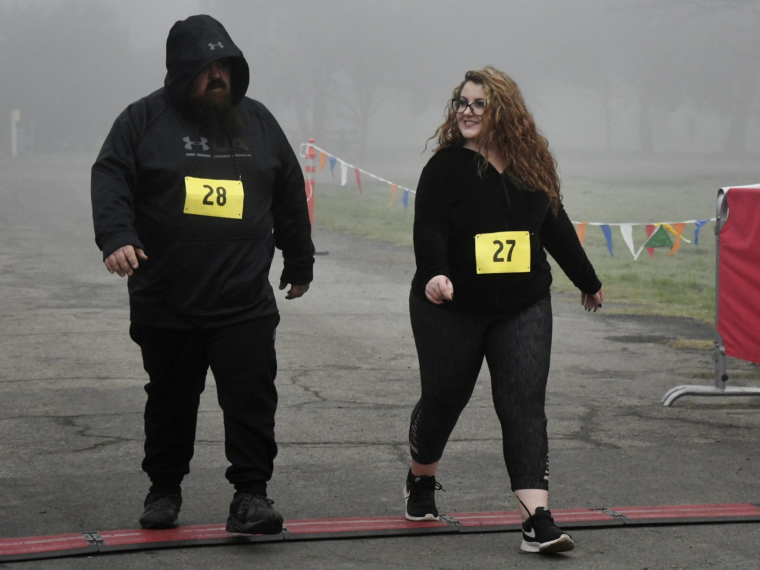 More than 200 runners hit the pavement for the 7th annual Justice Run: Run for Freedom 5K and one-mile walk at Mooney Grove Park on Saturday, January 19, 2019.