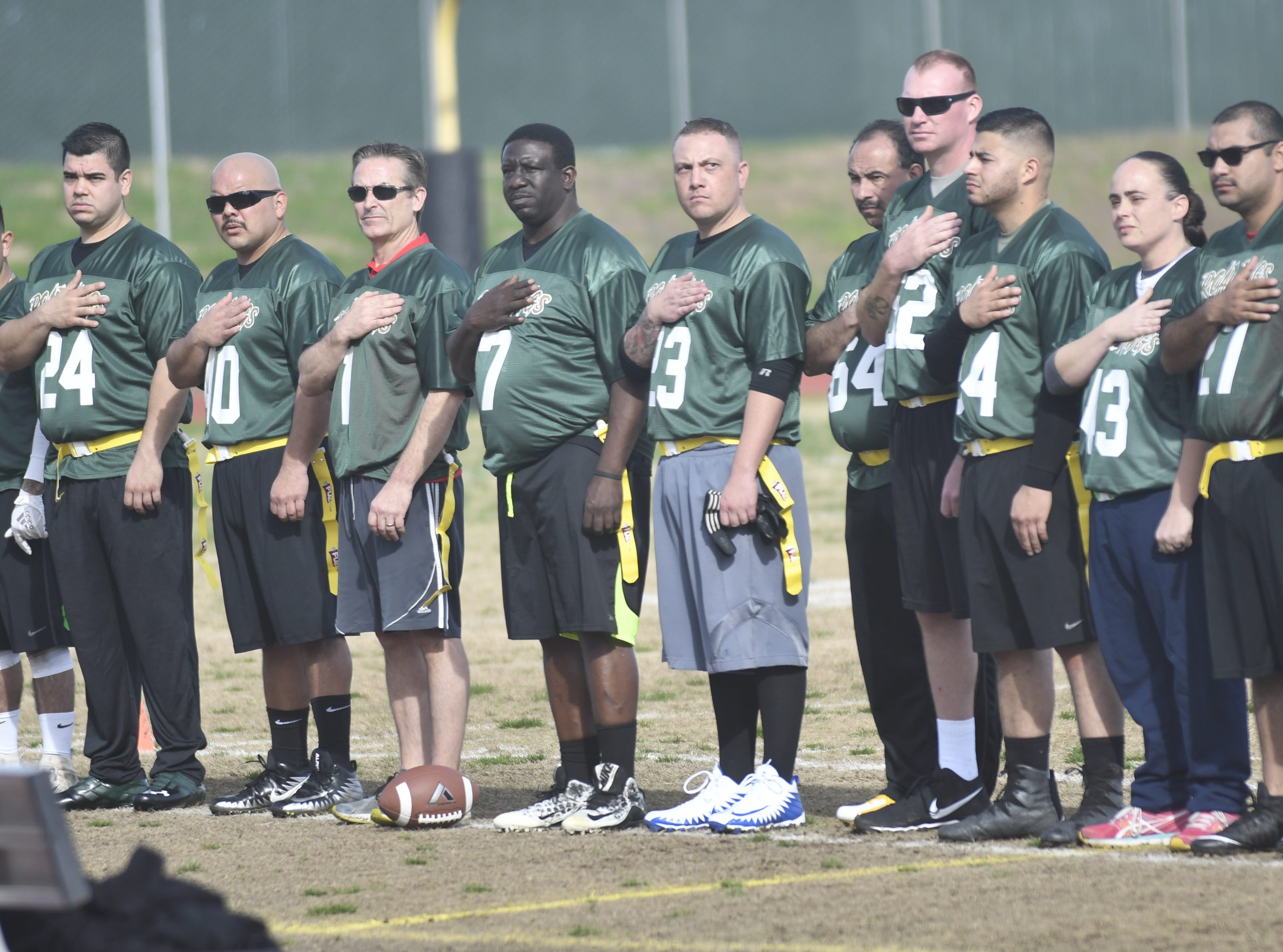 """The Tulare County Sheriff's Department kicked off its new Flag Football League with the Call of Duty benefit game.  On Saturday, the Tulare County Sheriff Department's Road Dawgs took on the NFL Elite. The """"family-friendly"""" game was played at the Groppetti Community Stadium at Golden West High School.  The game kicked off the sheriff's new Flag Football League free for children, kindergarten through eighth grades."""