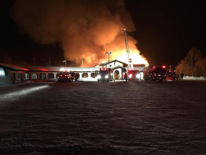 A fire broke out Friday night at the Whitecap Mountains ski resort in Anderson.