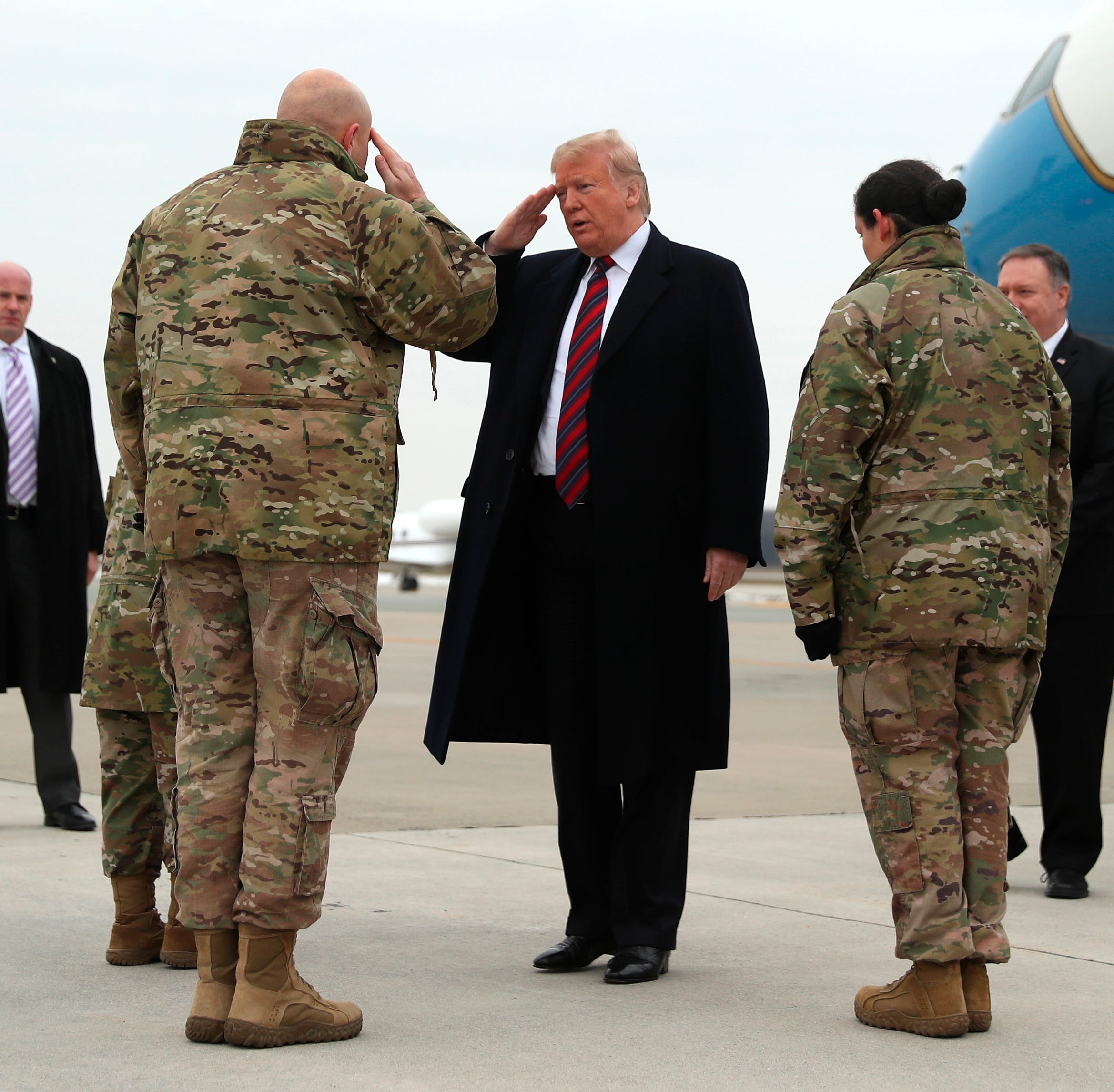 Trump visits Dover Air Force Base to meet families of Americans killed in Syria