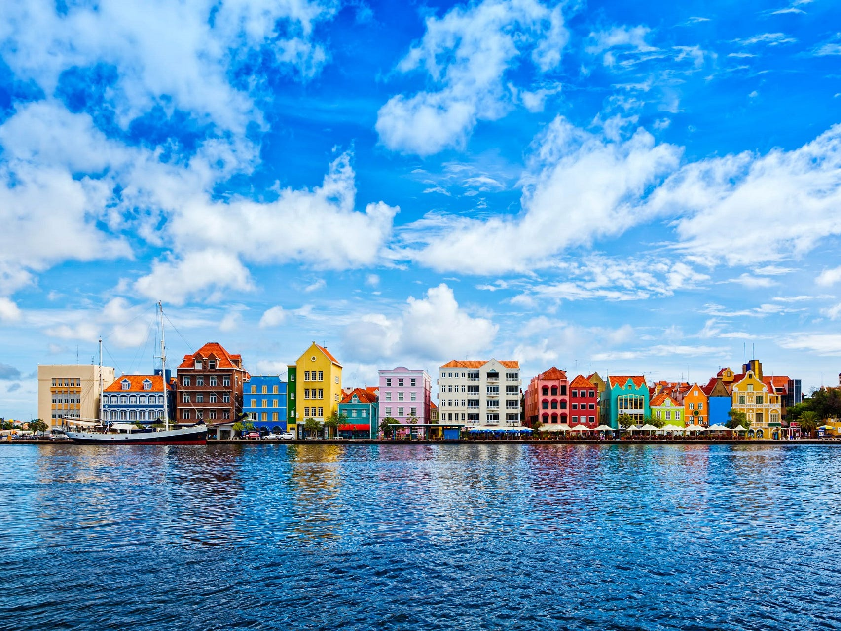 Curaçao is one of the ABC islands and is part of the Netherland Antilles. The island's UNESCO World Heritage capital city of Willemstad is one of the loveliest in the Caribbean and is celebrated for its cityscape of vibrantly painted Dutch colonial houses.