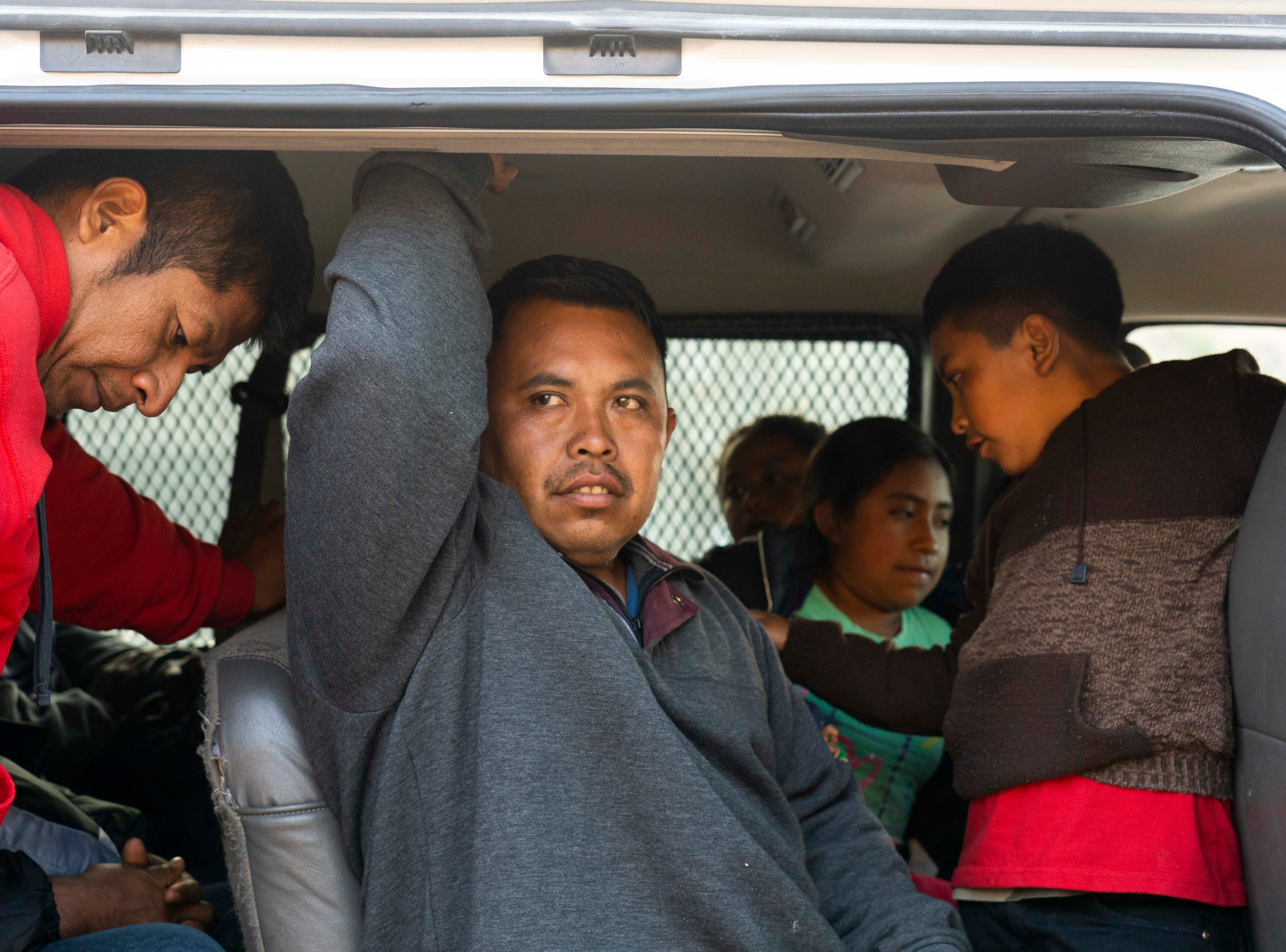 Migrants arrive at Kino Border Initiative shelter in Sonora, Mexico after being deported from the United States on Jan. 18, 2019.