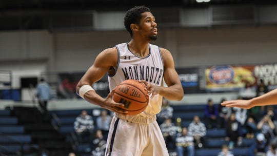 Monmouth guard Nick Rutherford and the Hawks took on Iona in a key MAAC clash on Sunday, Jan. 20 at OceanFirst Bank Center in West Long Branch.