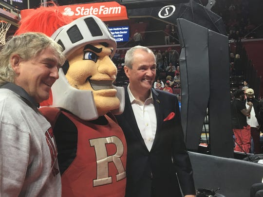 Gov. Phil Murphy, shown at a Rutgers basketball game last year, acknowledged Central Jersey in his inaugural address.
