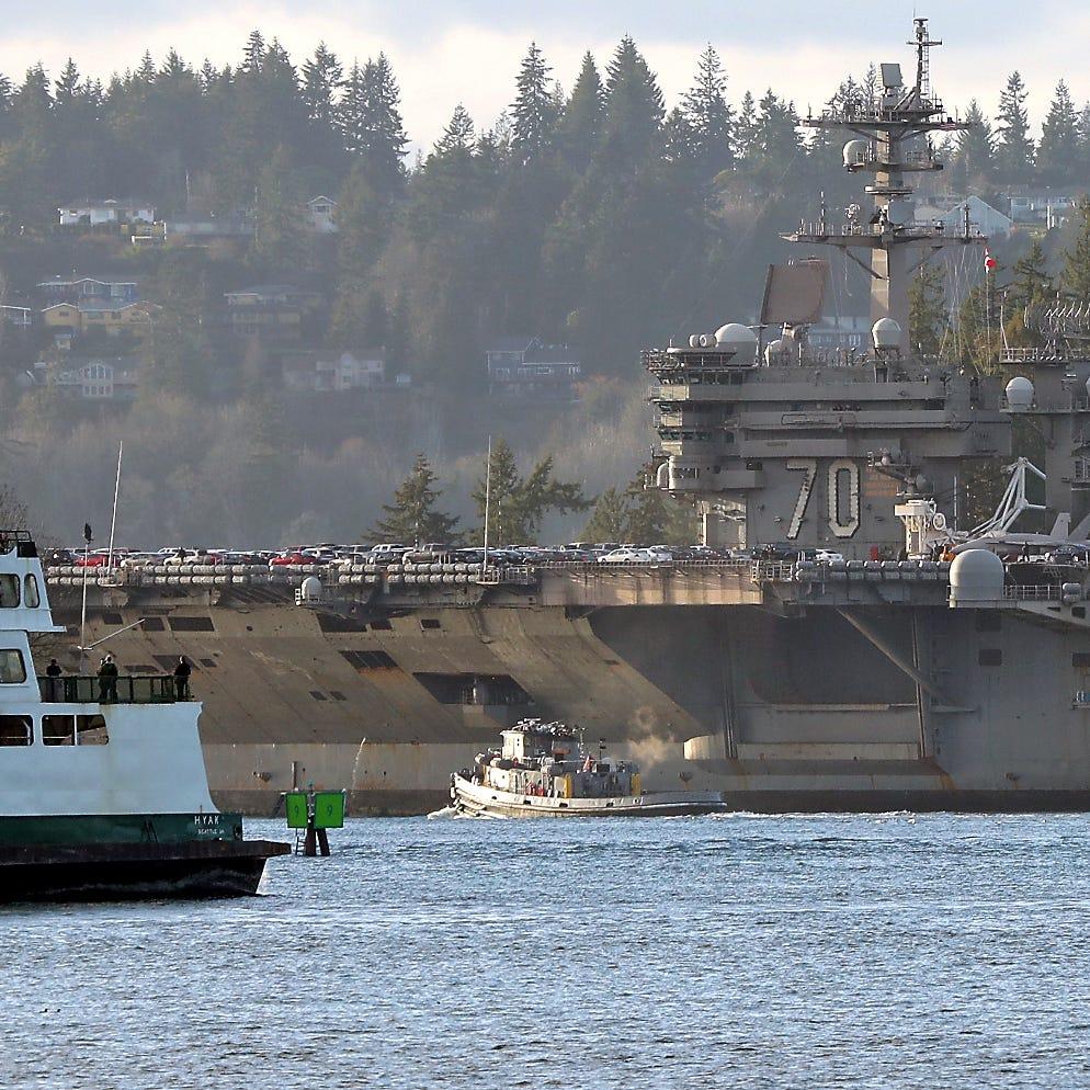 USS Carl Vinson pulls into its new Bremerton homeport