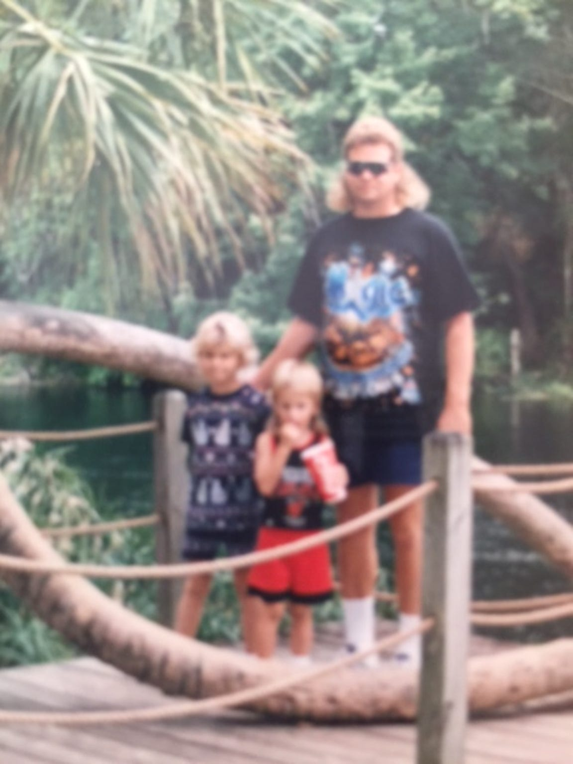Jeff Abramowski with his children
