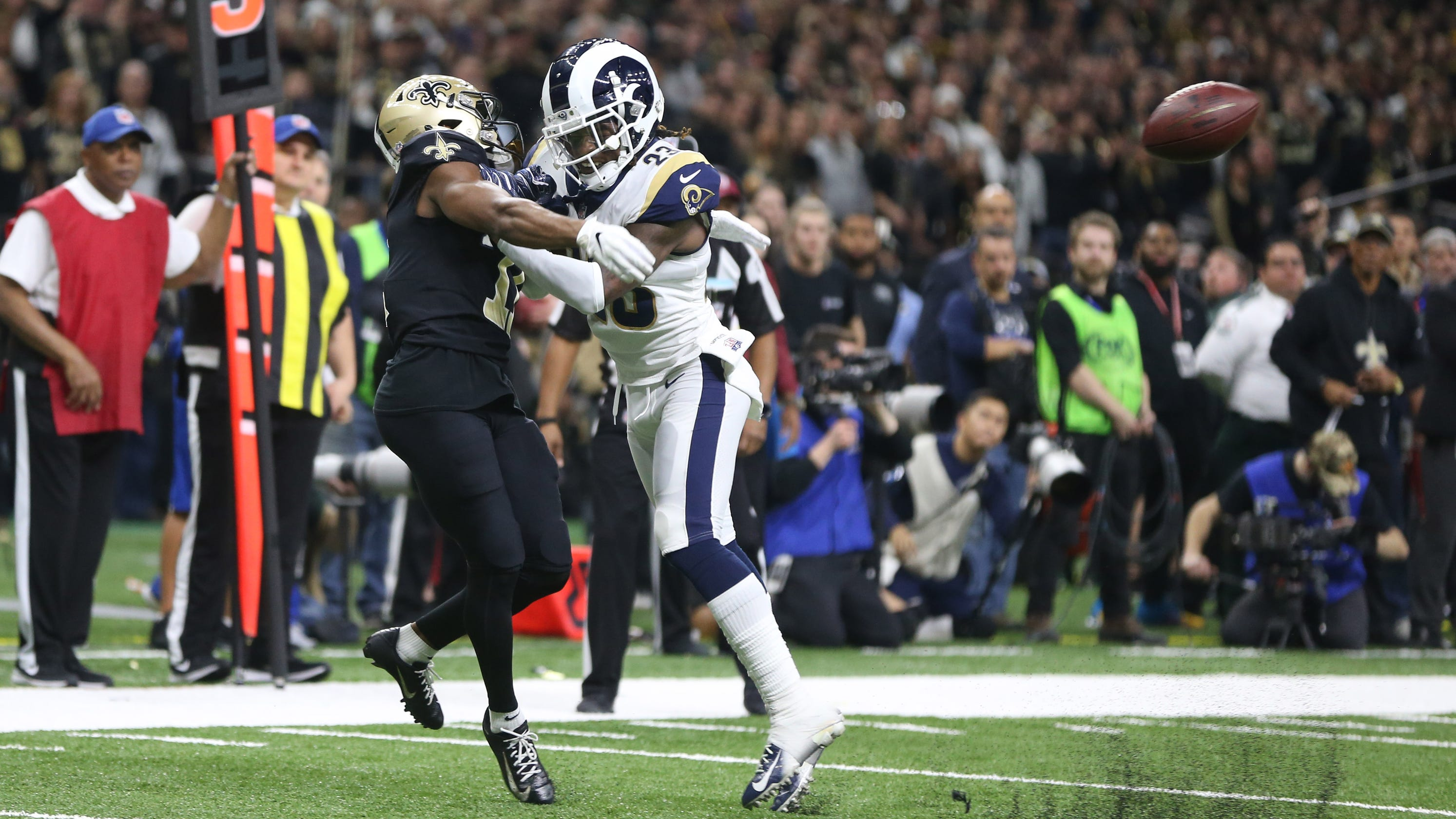 d650ef86b9a NFL Playoffs  Los Angeles Rams shock New Orleans Saints in NFC title game