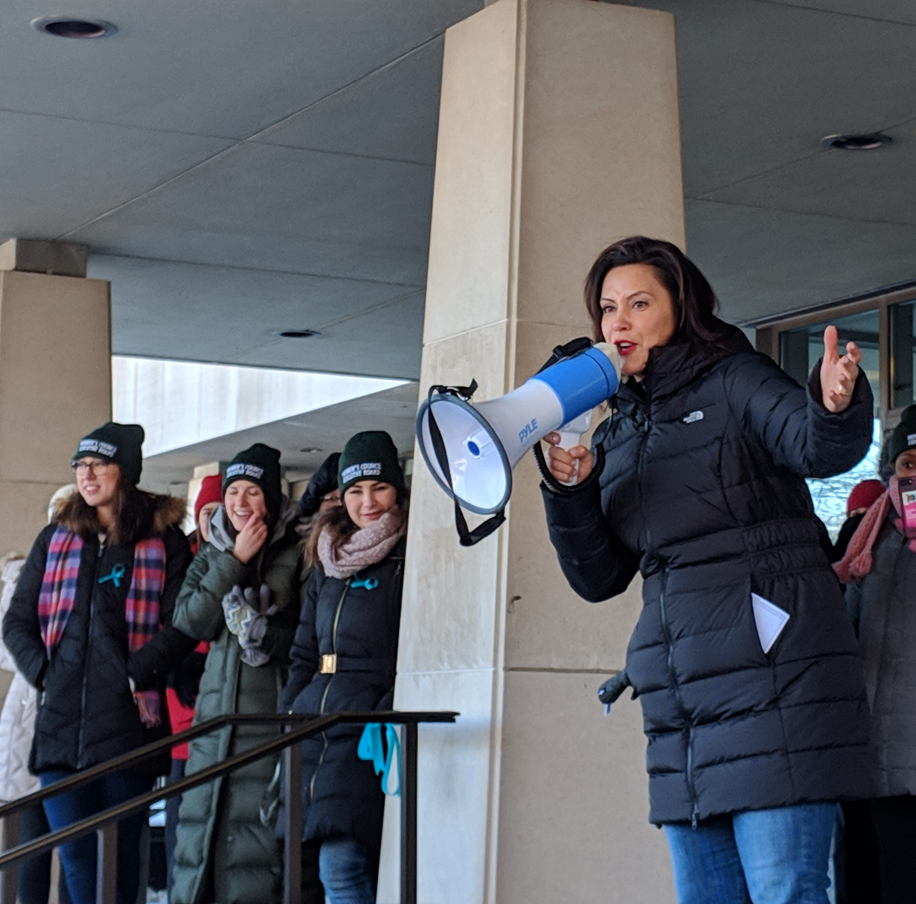 Whitmer rallies women at MSU: We won in 2018 and 'will not stop'
