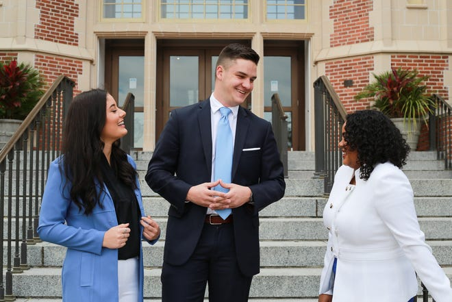 Nearly sweeping the 2018 elections, Unite Party unveils this year's executive slate, Dominique Hoffman, Carlton DiSalvo and Richelle De Jesus.