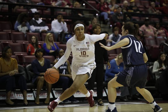Florida State freshman guard Kourtney Weber has started in all but one of the Seminoles games this season.