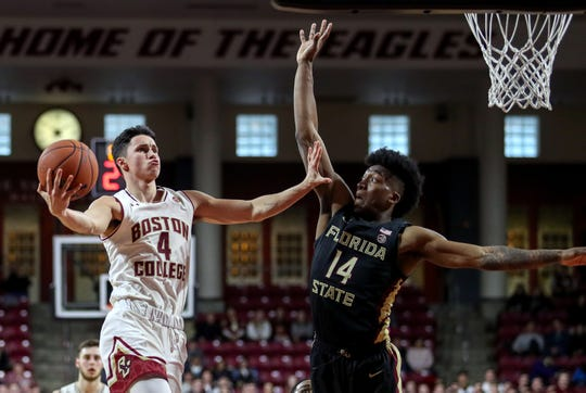 The Florida State men's basketball team dropped its third consecutive game during an 87-82 loss to Boston College on Sunday afternoon.