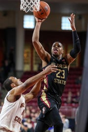 Florida State sophomore guard M.J. Walker scored 12 points during the Seminoles 87-82 loss to Boston College at Conte Forum.