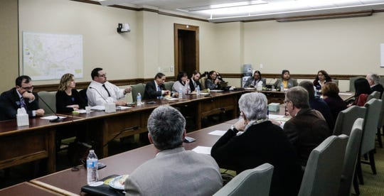 Montana's American Indian Caucus meets for lunch once a week to discuss issues and hear from lobbyists and lawmakers. Jan. 16.