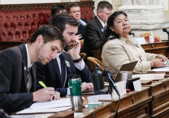 Following in the footsteps of a politically progressive grandmother, Rep. Sharon Stewart Peregoy, D-Crow Agency, has served in six legislative sessions and teaches political science and Crow studies at Bighorn Community College.