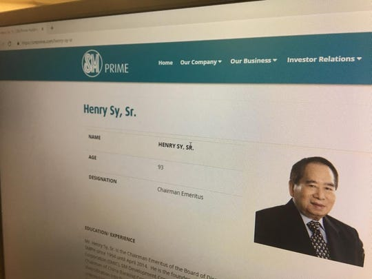 Henry Sy, Sr., Chairman Emeritus of the Board of Directors of SM Prime Holdings and owner of Agana Shopping Center, died Saturday, Jan. 19, 2019.