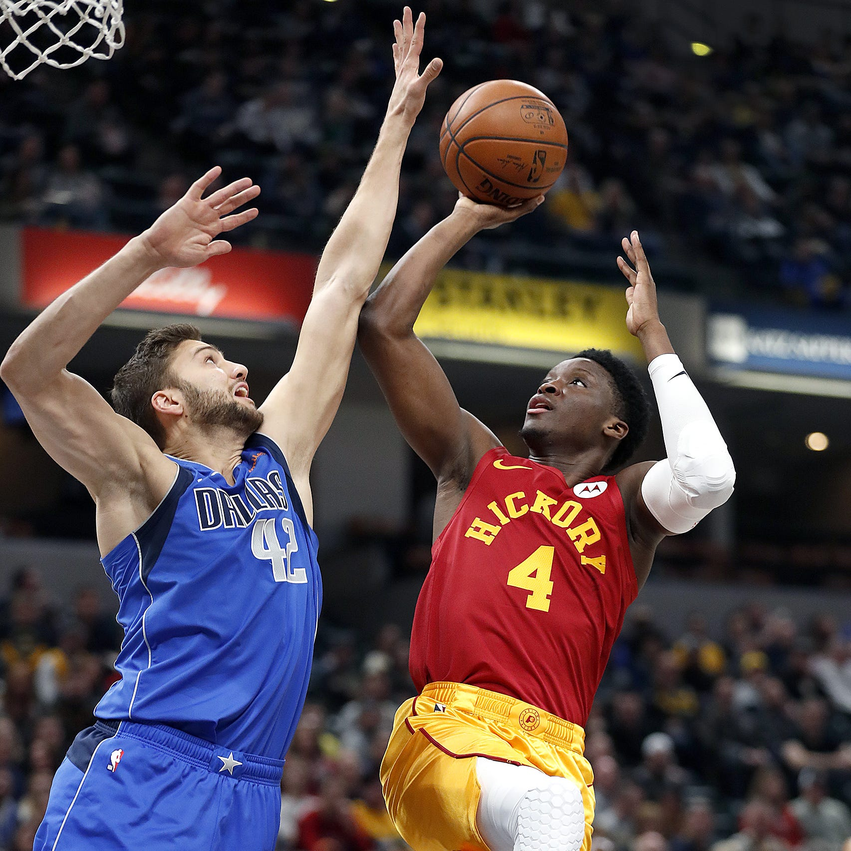 Pacers knock off Mavs, salute Dirk Nowitzki while Victor Oladipo's slump continues