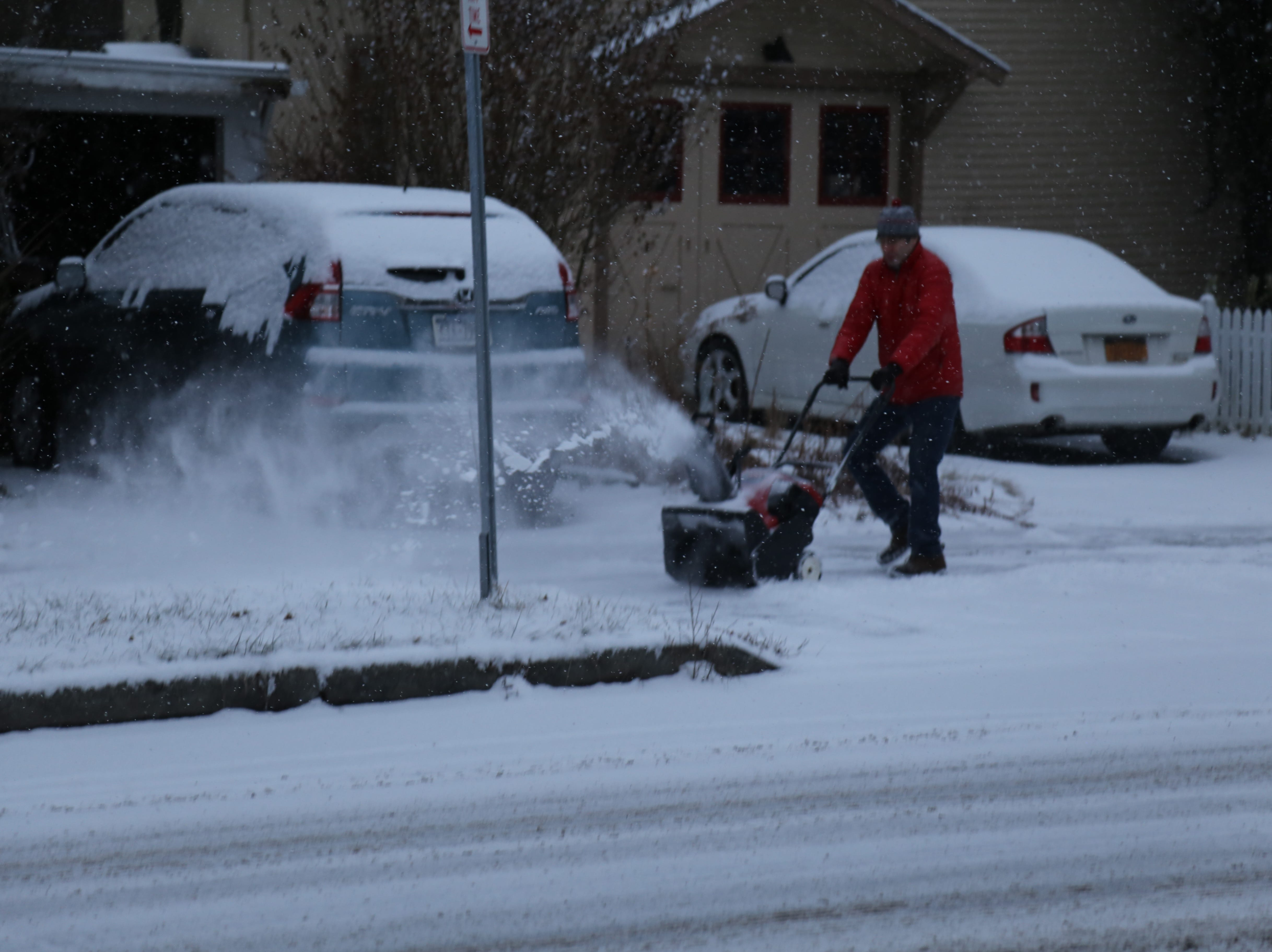 Early snowfall in Ithaca Saturday — the day a winter storm hit the Southern Tier.