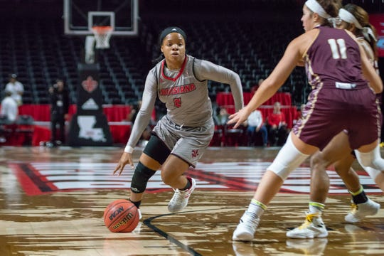 UL's Brandi Williams has been hot of late, now averaging 11.6 points a game as a true freshman.