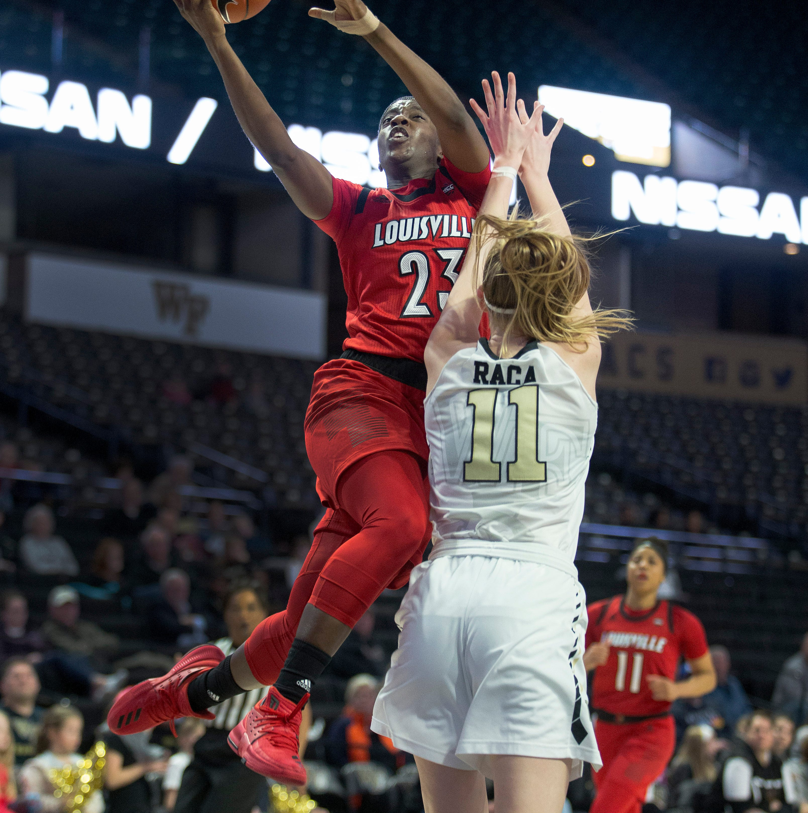 Louisville women's basketball pulls away from Wake Forest for win