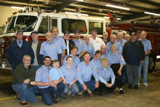 Other volunteer firefighters from Grover, Northeast Lakeside, Hand Cove and Gamaliel departments came out to Henderson's open house Saturday afternoon. The department commemorated its 1982 American LaFrance pumper truck that was used following the terror attacks on Sept. 11, 2001 in New York City.