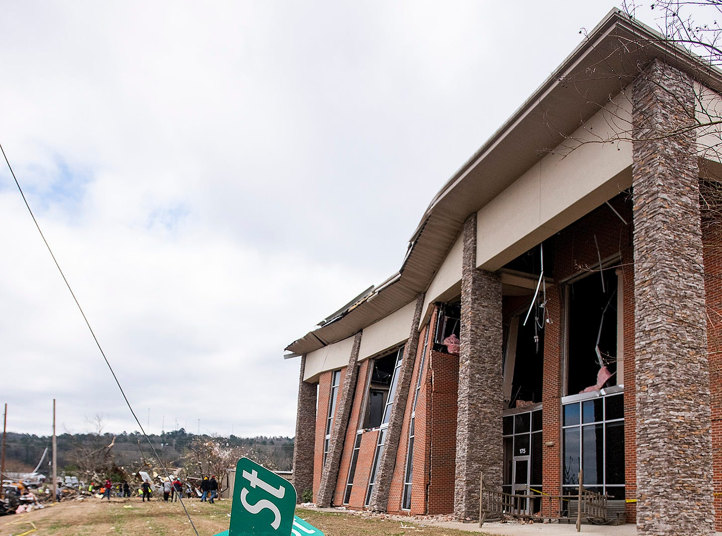 Damage is shown on Sunday January 20, 2019, after a tornado hit Wetumpka, Ala., on Saturday afternoon.