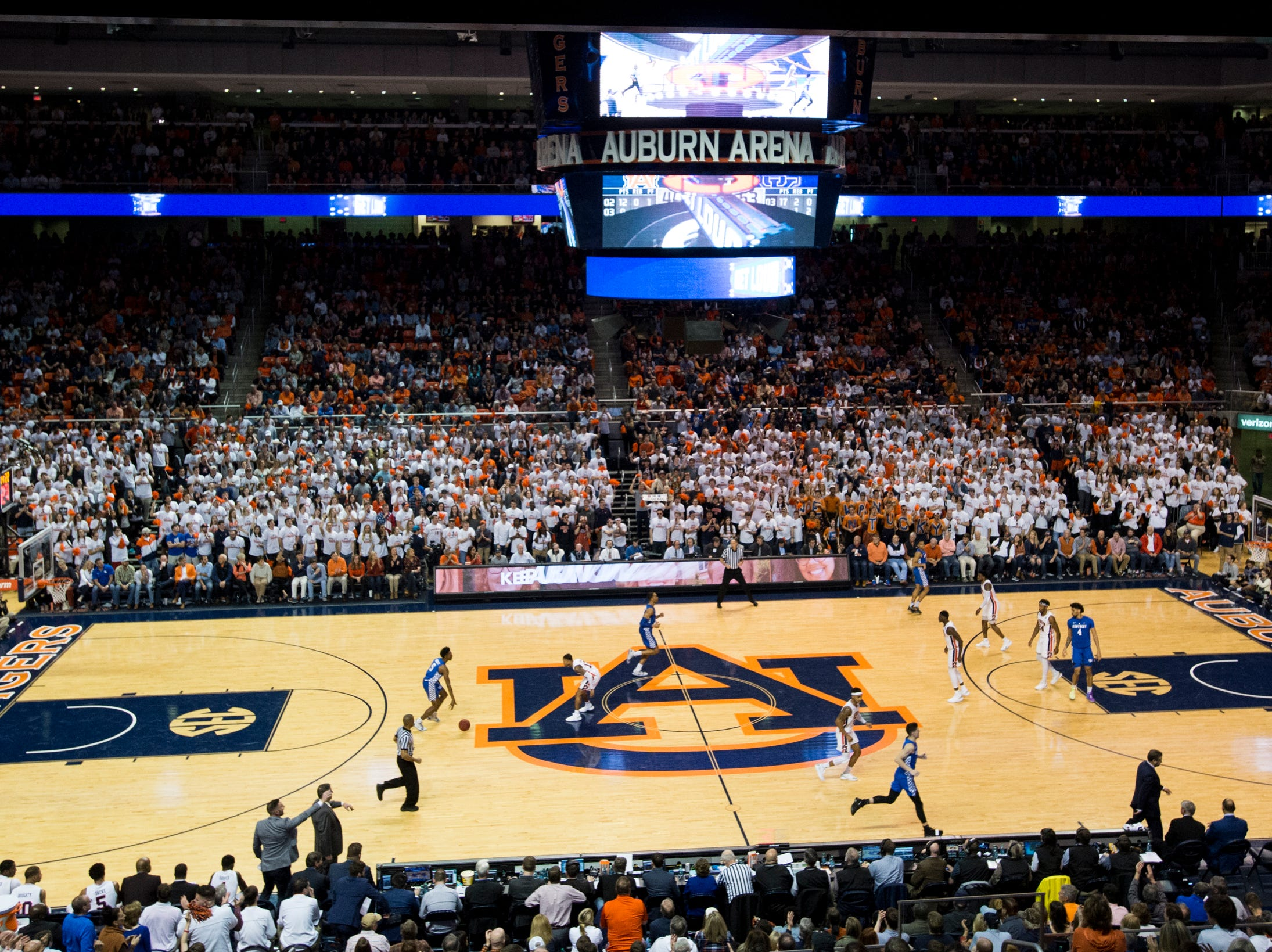 Auburn takes on Kentucky at Auburn Arena in Auburn, Ala., on Saturday, Jan. 19, 2019. Kentucky defeats Auburn 82-80.