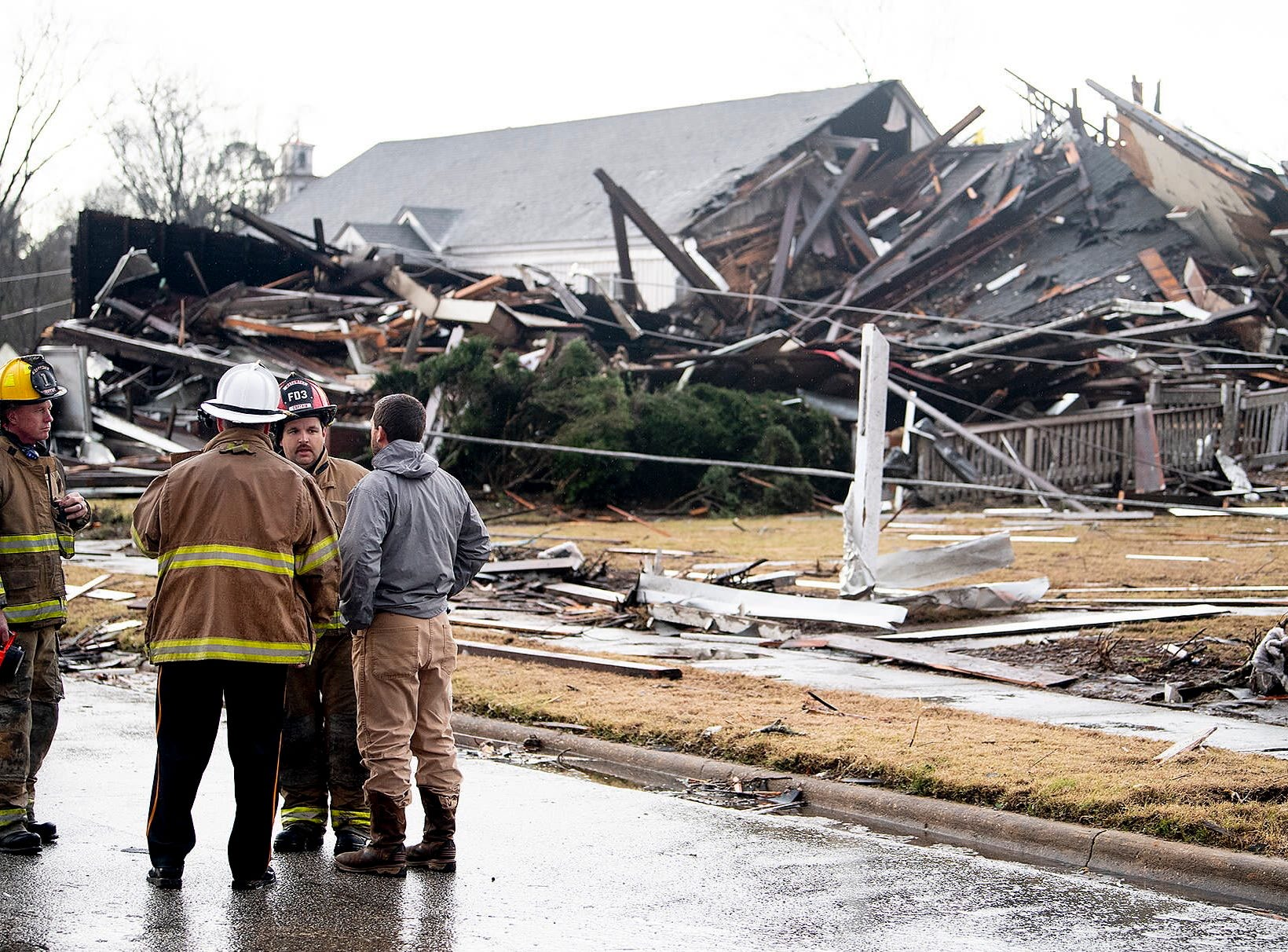 The First Presbyterian Church in the 100 block of West Bridge Street in Wetumpka after an apparent tornado struck the town on January 19, 2019