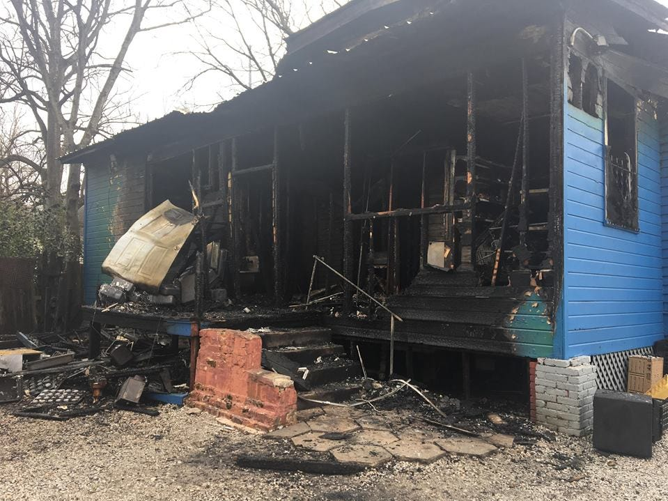Mrs. B's Home Cooking Restaurant, on Cullman Street in west Montgomery, caught fire early Sunday morning.