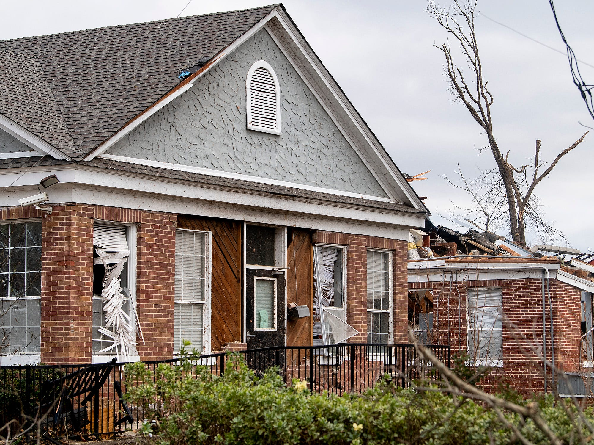 The Wetumpka Police Department building on Sunday January 20, 2019, after a tornado hit Wetumpka, Ala., on Saturday afternoon.