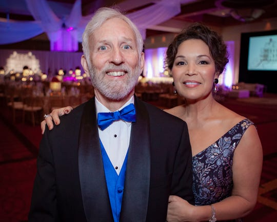 Dr. Dunk Eastham, recipient of the Champion award, with wife Vicki at the 2019 Saint Thomas Rutherford Foundation Gala on Saturday, Jan. 19, 2019 at Embassy Suites Murfreesboro.