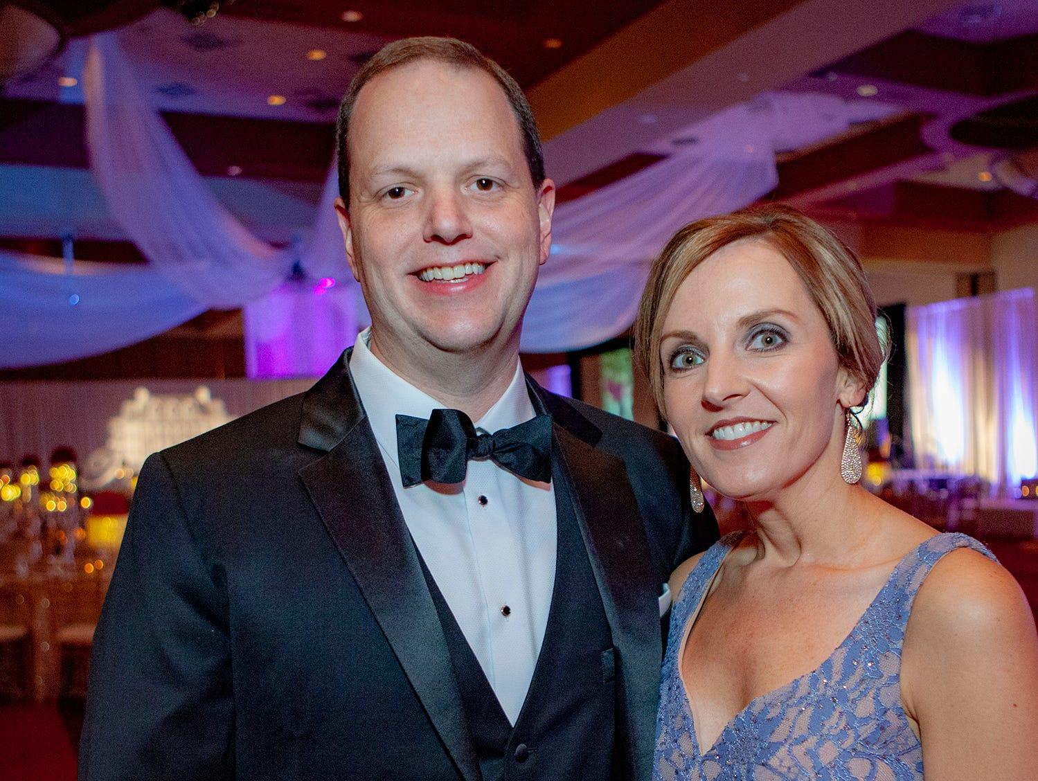Steven and Sabrina Thomas at the 2019 Saint Thomas Rutherford Foundation Gala on Saturday, Jan. 19, 2019 at Embassy Suites Murfreesboro.