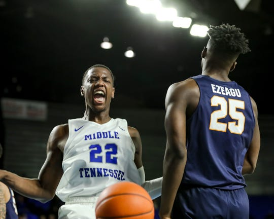 Former MSU forward Reggie Scurry transferred to Middle Tennessee following the 2017-18 season. He suffered foot injuries in January 2018 from a cryotherapy session that the entire team took part in.
