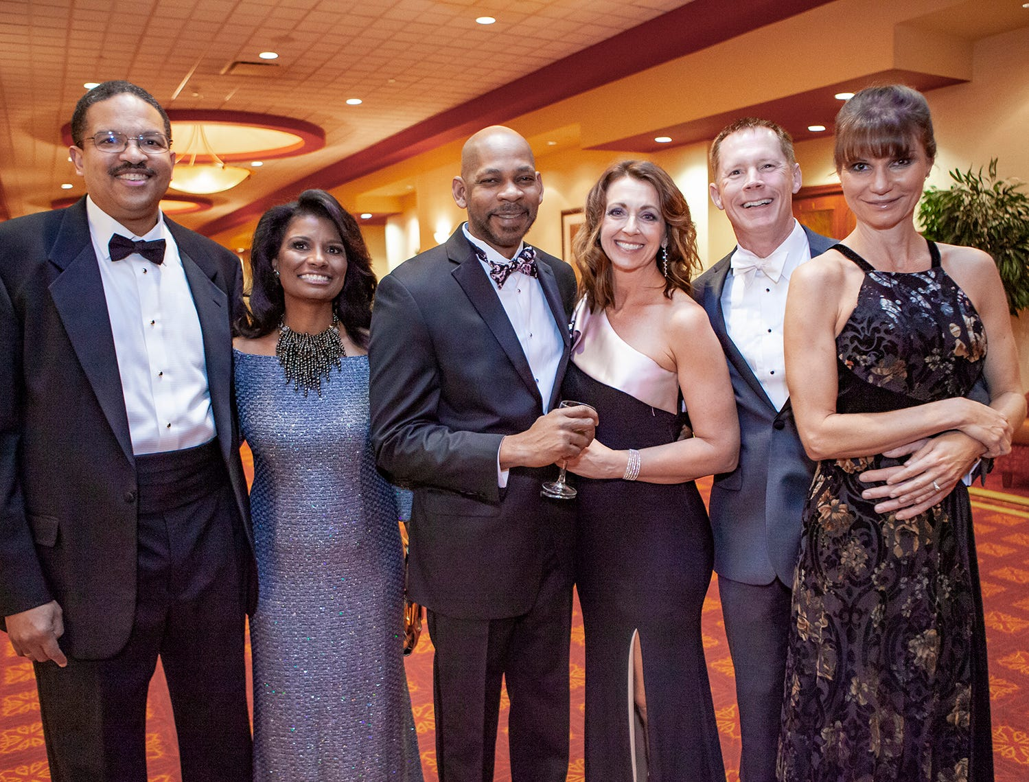 Kevin Billups, Tracy Hardy, Ken Mitchell, Christie Condra, and Mary and Greg Sample at the 2019 Saint Thomas Rutherford Foundation Gala on Saturday, Jan. 19, 2019 at Embassy Suites Murfreesboro.