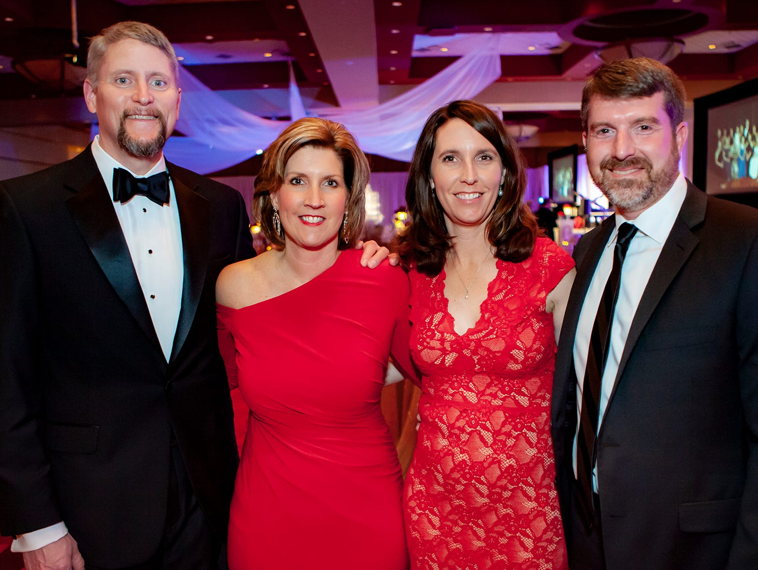 Jeff and Paula Todd with Vickie and Stephen Rich at the 2019 Saint Thomas Rutherford Foundation Gala on Saturday, Jan. 19, 2019 at Embassy Suites Murfreesboro.