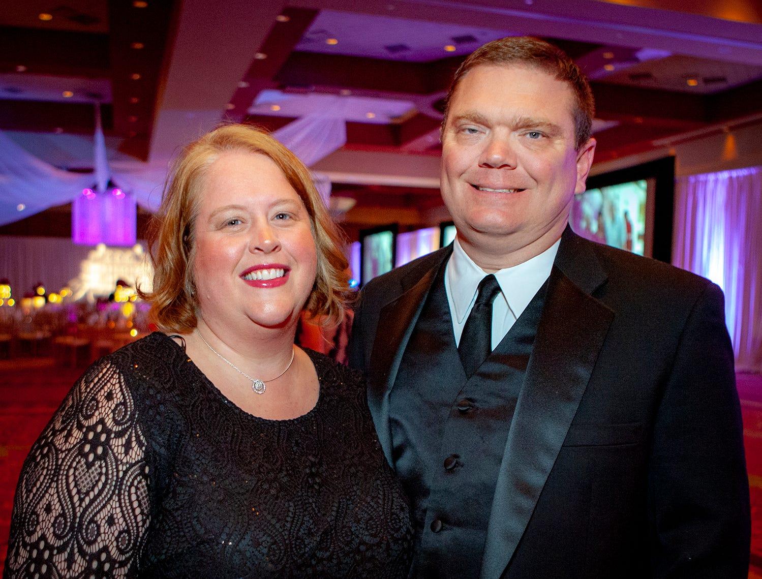 Betsy and Robert Coggin at the 2019 Saint Thomas Rutherford Foundation Gala on Saturday, Jan. 19, 2019 at Embassy Suites Murfreesboro.