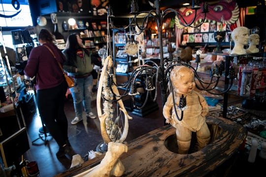 "The motto of the East Nashville shop Hail, Dark Aesthetics is ""we buy weird stuff."""
