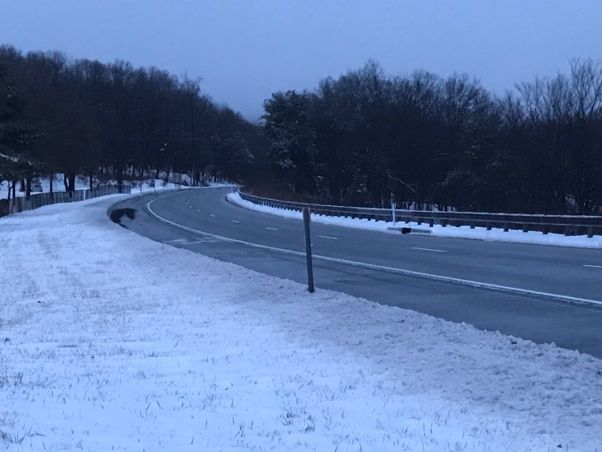 Route 23 in West Milford near Echo Lake Road at 7 a.m. Sunday, Jan. 20, 2019.