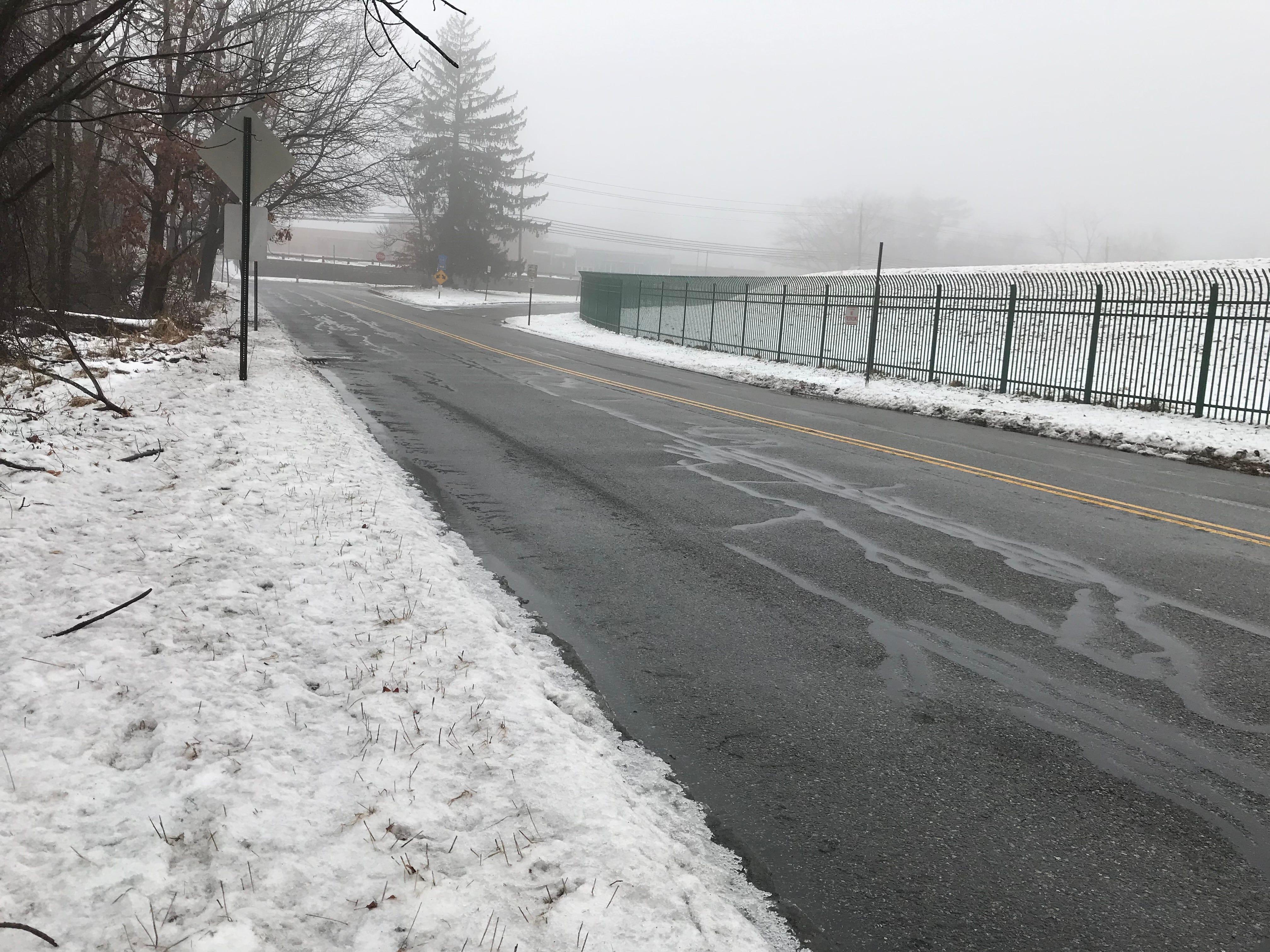 About an inch of rain and slush in Cedar Grove Sunday morning, Jan. 20, 2019.