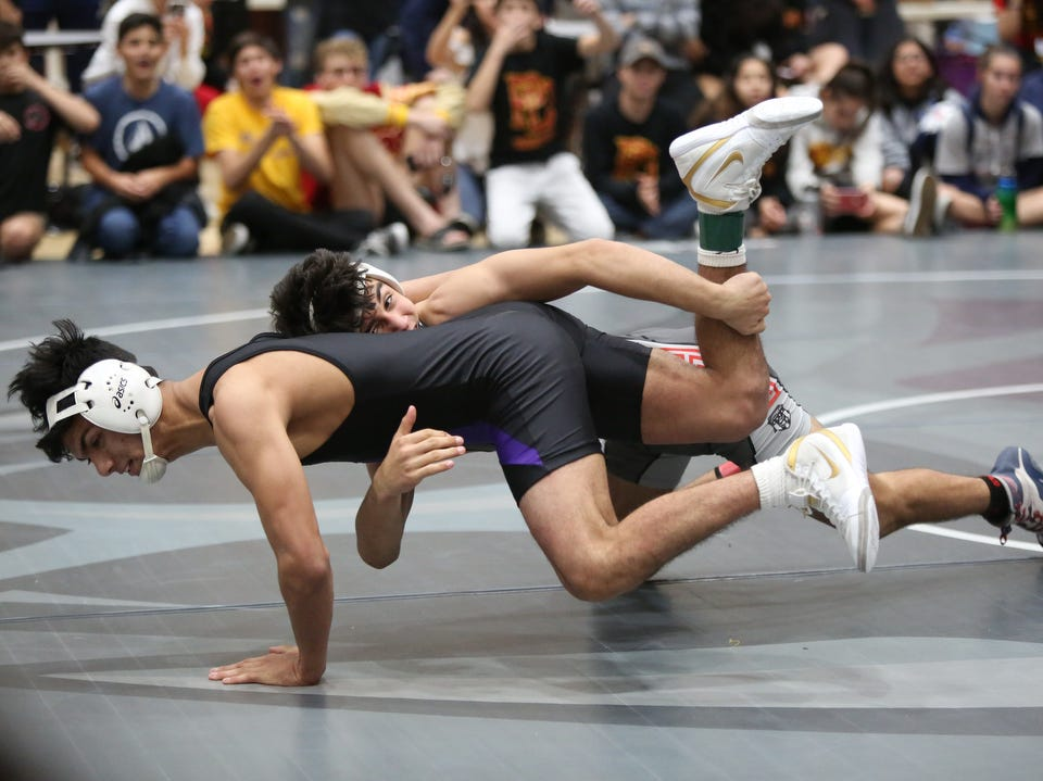 Scenes from the Desert Empire League wrestling finals at Rancho Mirage High School in Rancho Mirage on Saturday, January 19, 2019.