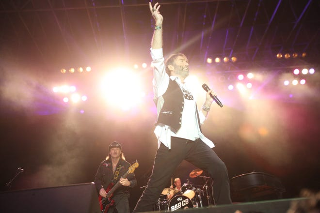 Paul Rodgers, lead singer of Bad Company performs at Stadium Course at PGA West in La Quinta, California on January 19, 2019 as part of the Desert Classic golf tournament Concert Series.