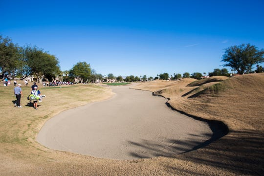 A bunker at Stadium Course at PGA West in La Quinta, California on January 19, 2019.