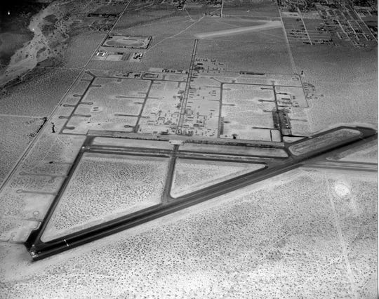 Aerial of the Palm Springs Army Airfield.