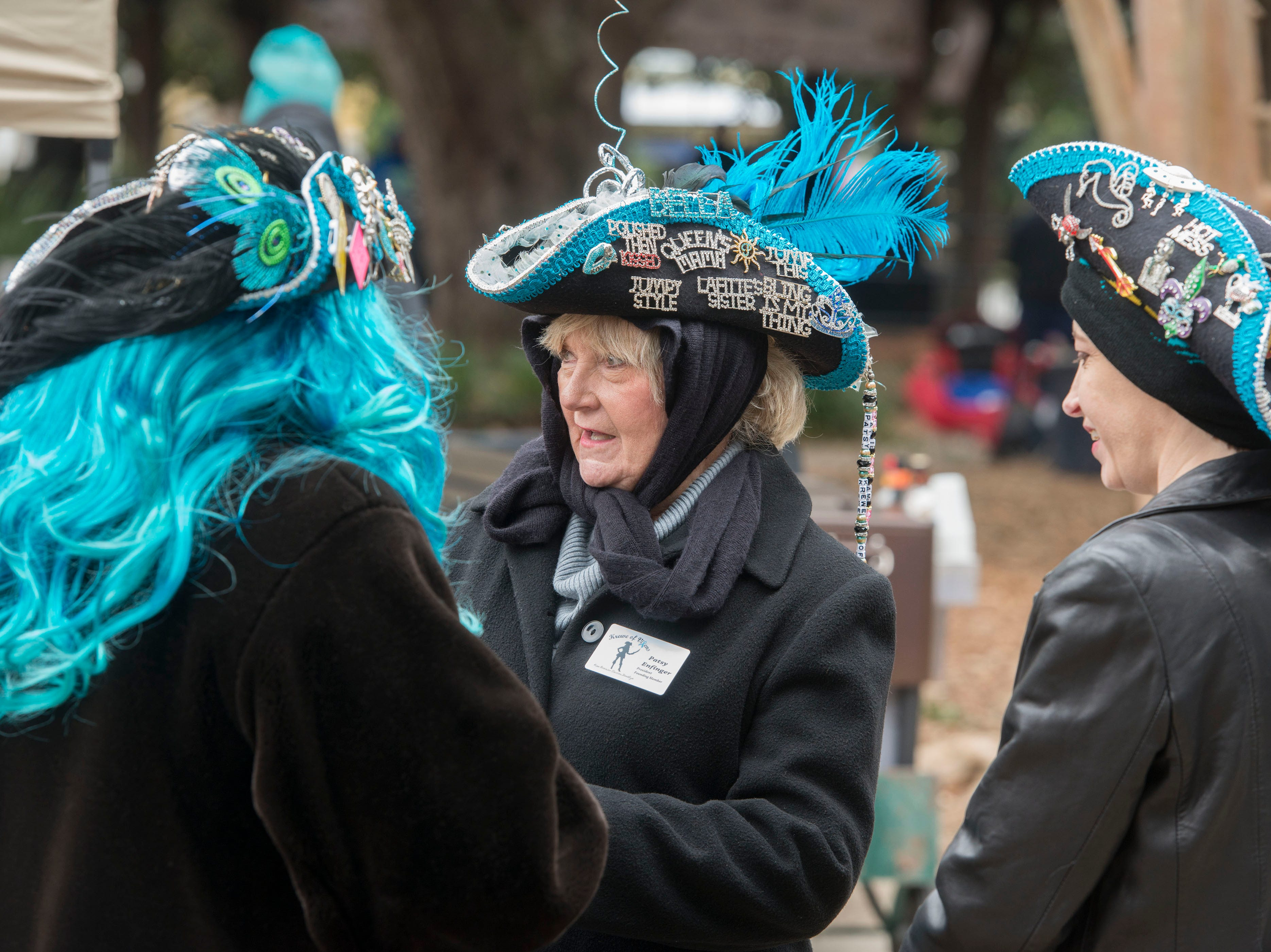 The Krewe of Blues held its Pin and Bead Festival at Seville Square. Sunday, January 20, 2019. The free event included music, food, games and a Diaper Drive for Gulf Coast Kid's House.