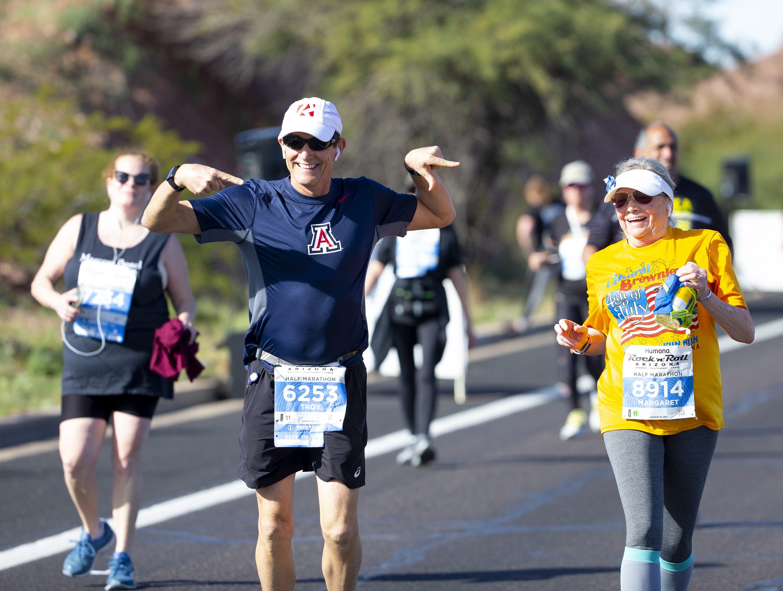 Runners compete in Humana Rock 'n' Roll half marathon near Papago Park on Jan. 20, 2019.