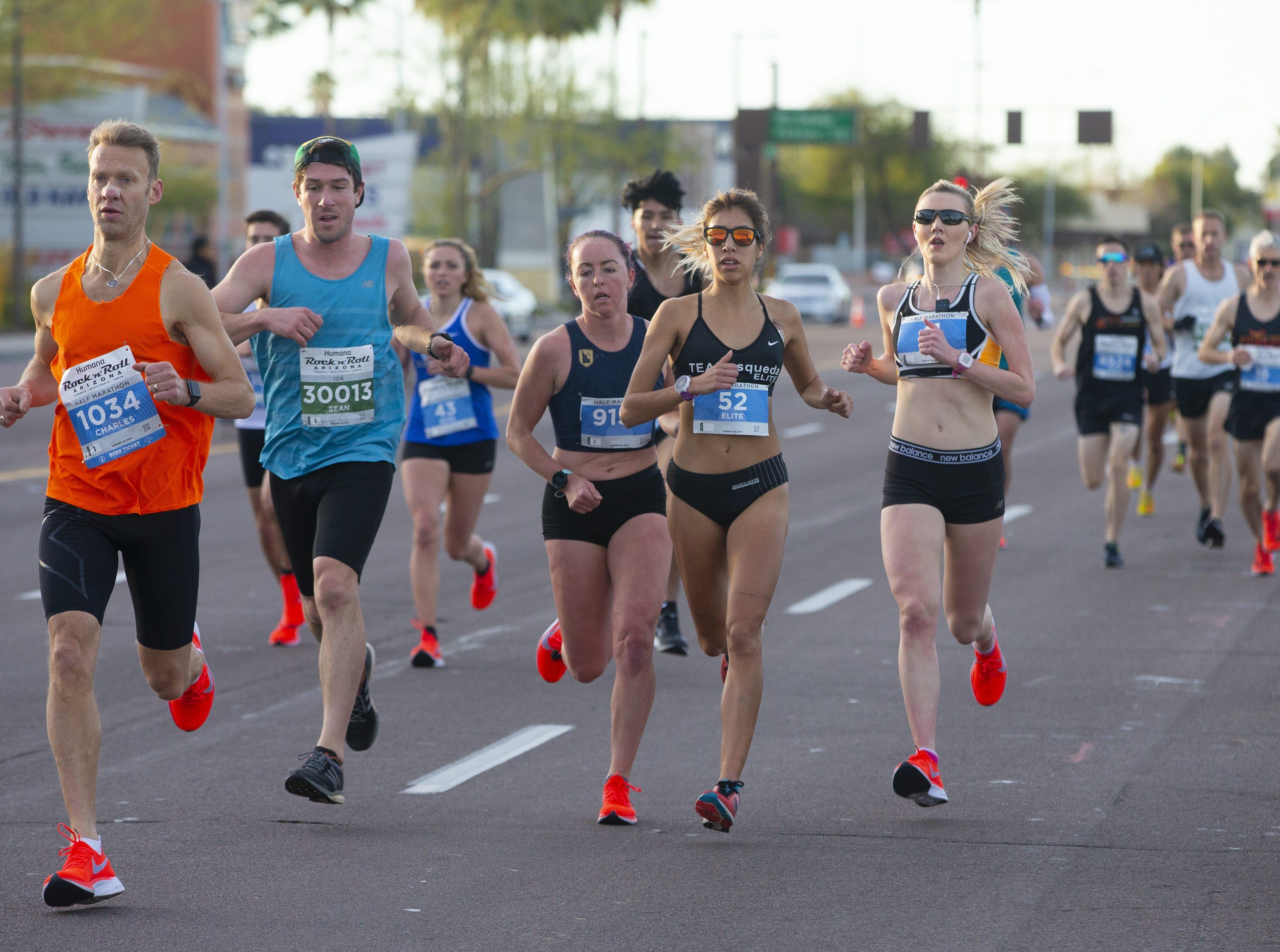 Runners compete in the Humana Rock 'N' Roll half-marathon on Jan. 20, 2019.