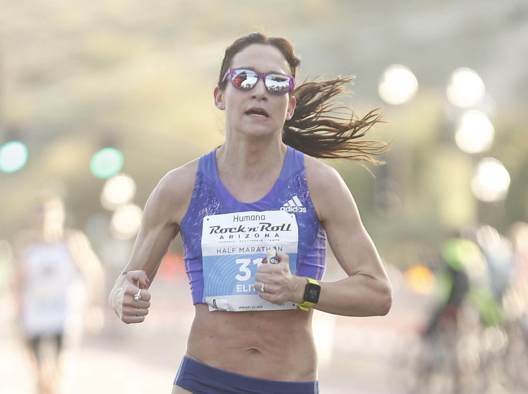 Adrienne Barry places third during the Rock 'N' Roll half-marathon in Tempe on Jan 20, 2019.