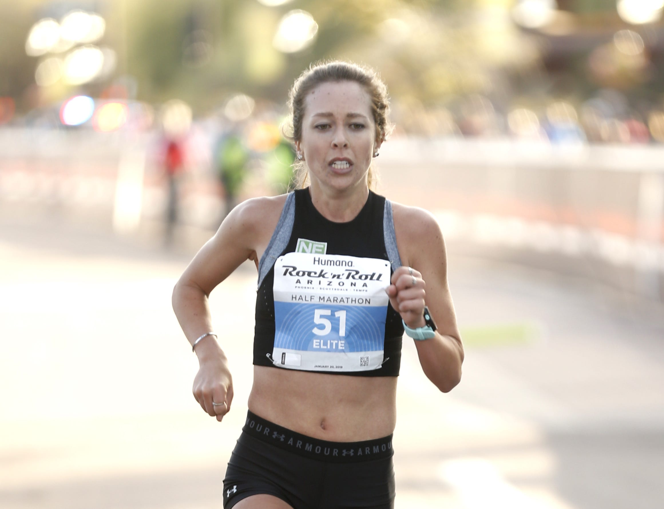 Dylan Hassett places second during the Rock 'n' Roll half-marathon in Tempe on Jan. 20, 2019.