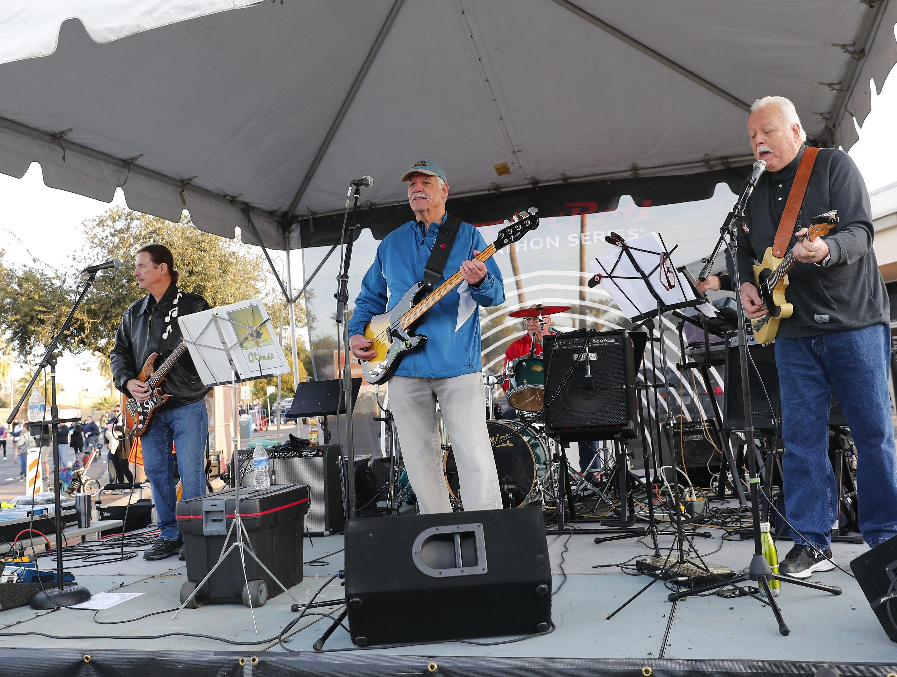 The Screamin' Javelinas perform during the Rock 'n' Roll Marathon in Phoenix, Jan. 20, 2019.