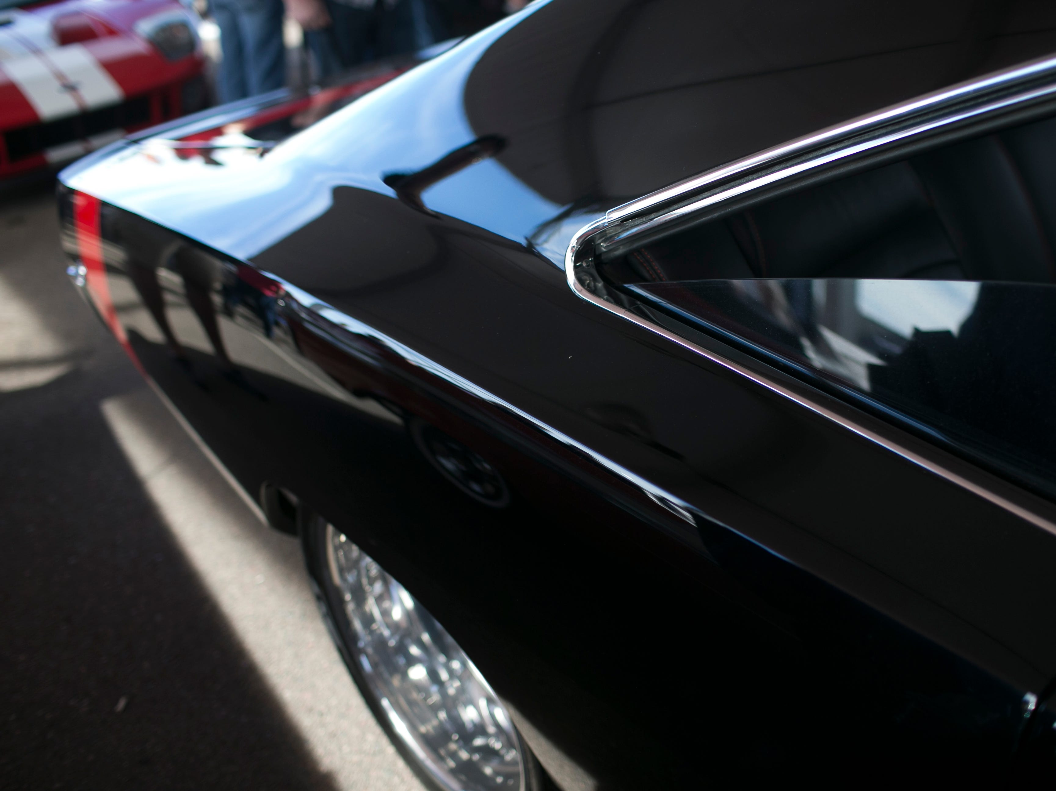 Cardinals Wide Receiver Larry Fitzgerald's custom built turbo-paired engined 1968 Charger is auctioned at Barrett-Jackson collector-car auction for $100,000 at WestWorld on Sat. January 19, 2019 in Scottsdale, Ariz.